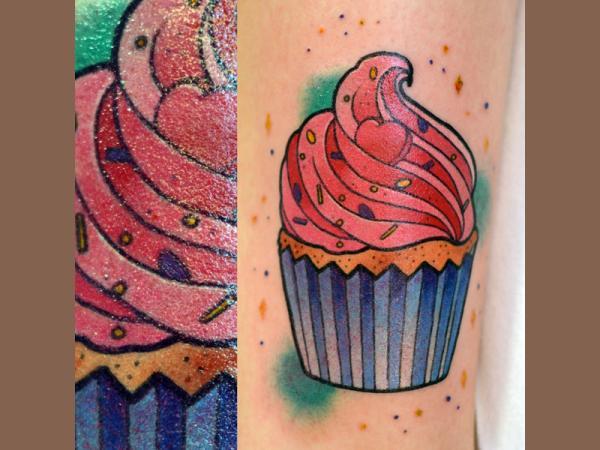 Timber Custom Tattoo - Cupcake